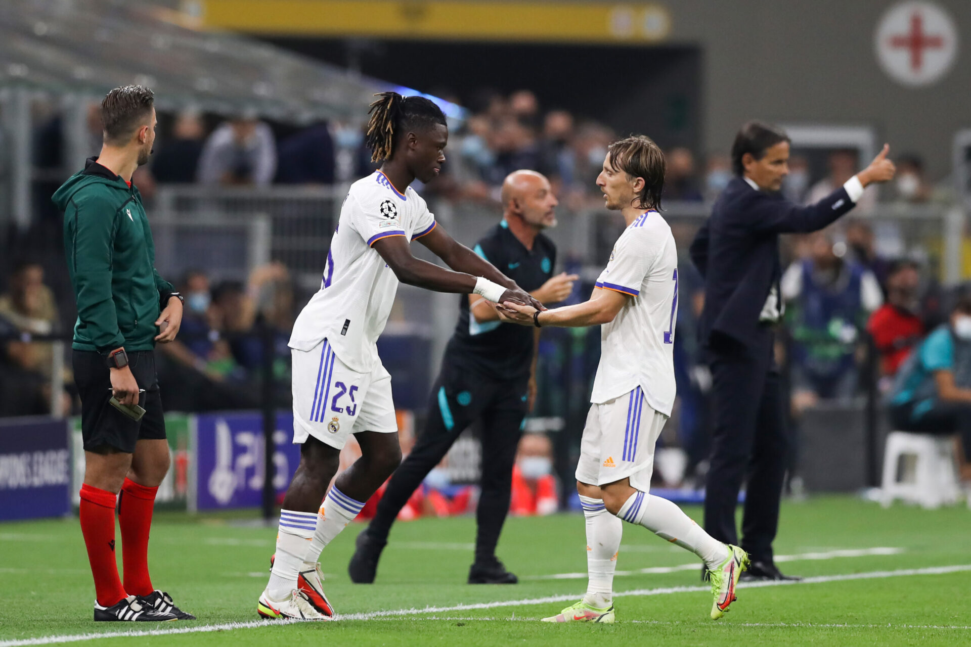 À Giuseppe Meazza, Eduardo Camavinga est entré à la place de Luka Modrić à la 80e minute de jeu (iconsport)