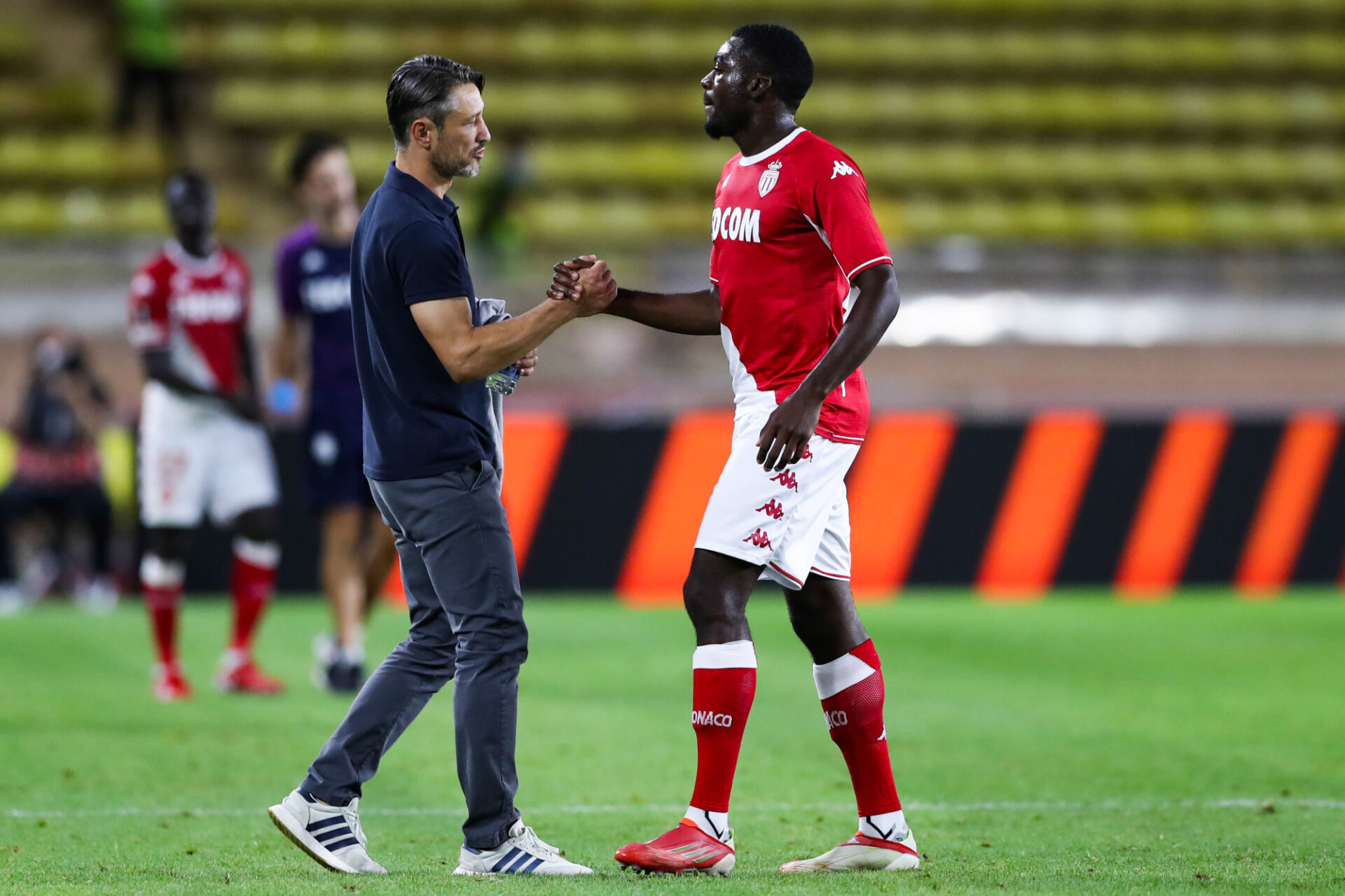 """Niko Kovač veut que ses joueurs, ici Youssouf Fofana, jouent avec """"style"""" contre Saint-Etienne. Icon Sport"""