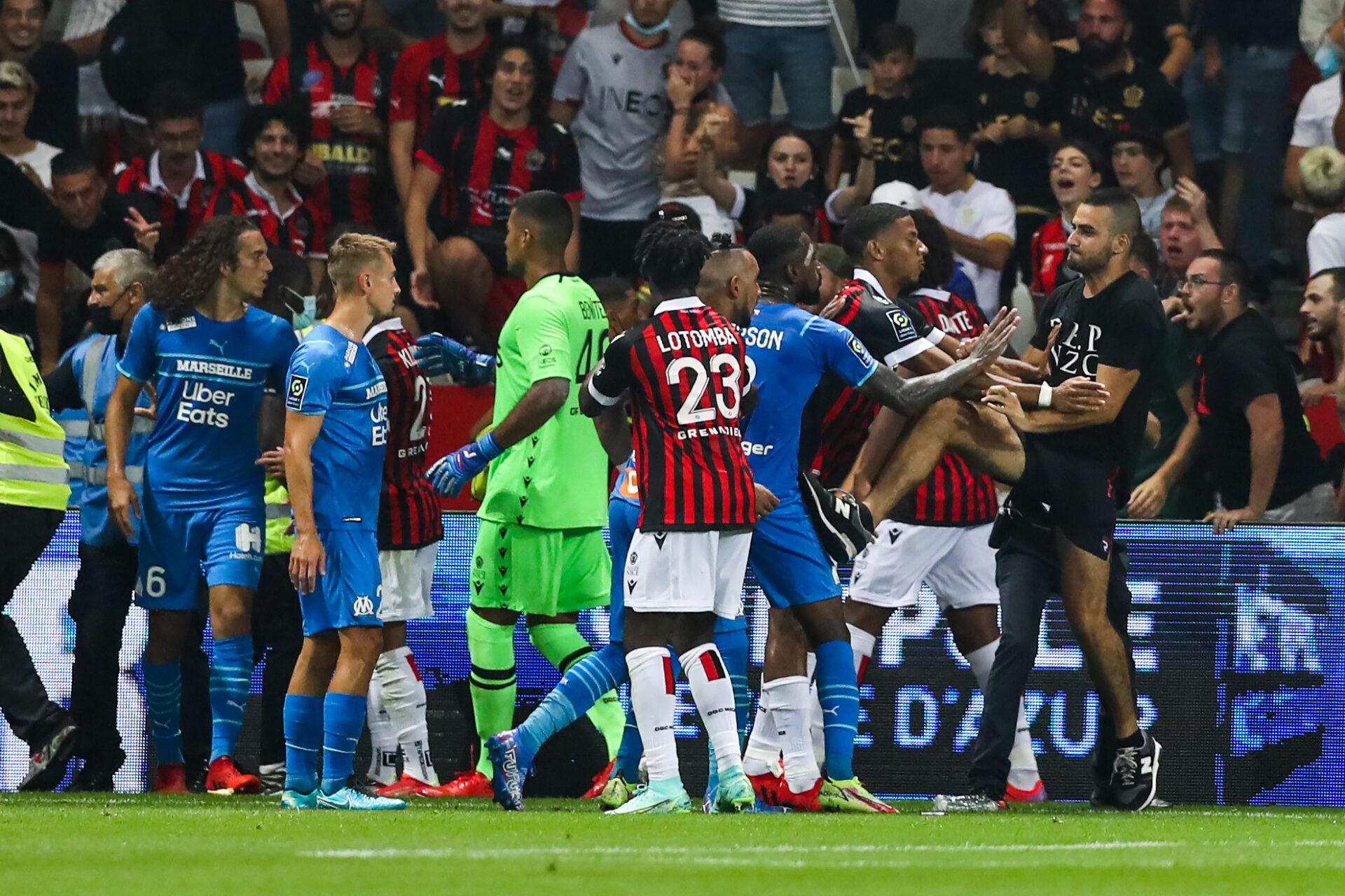 Les sanctions sont tombées après les incidents lors du match entre Nice et Marseille. Icon Sport