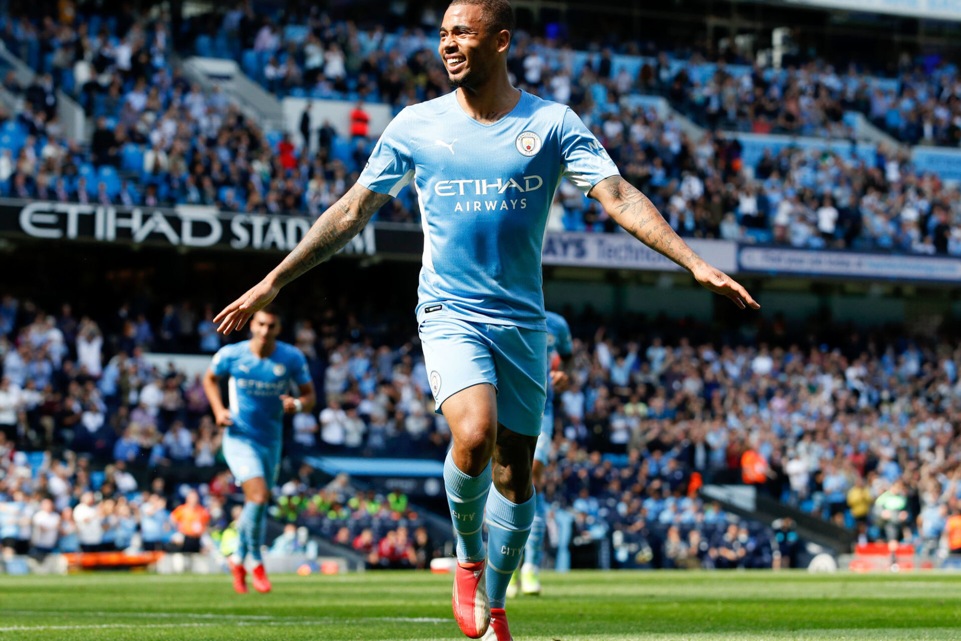 Gabriel Jesus pourra bien jouer avec Manchester City contre Leicester, dimanche 12 septembre. Icon Sport
