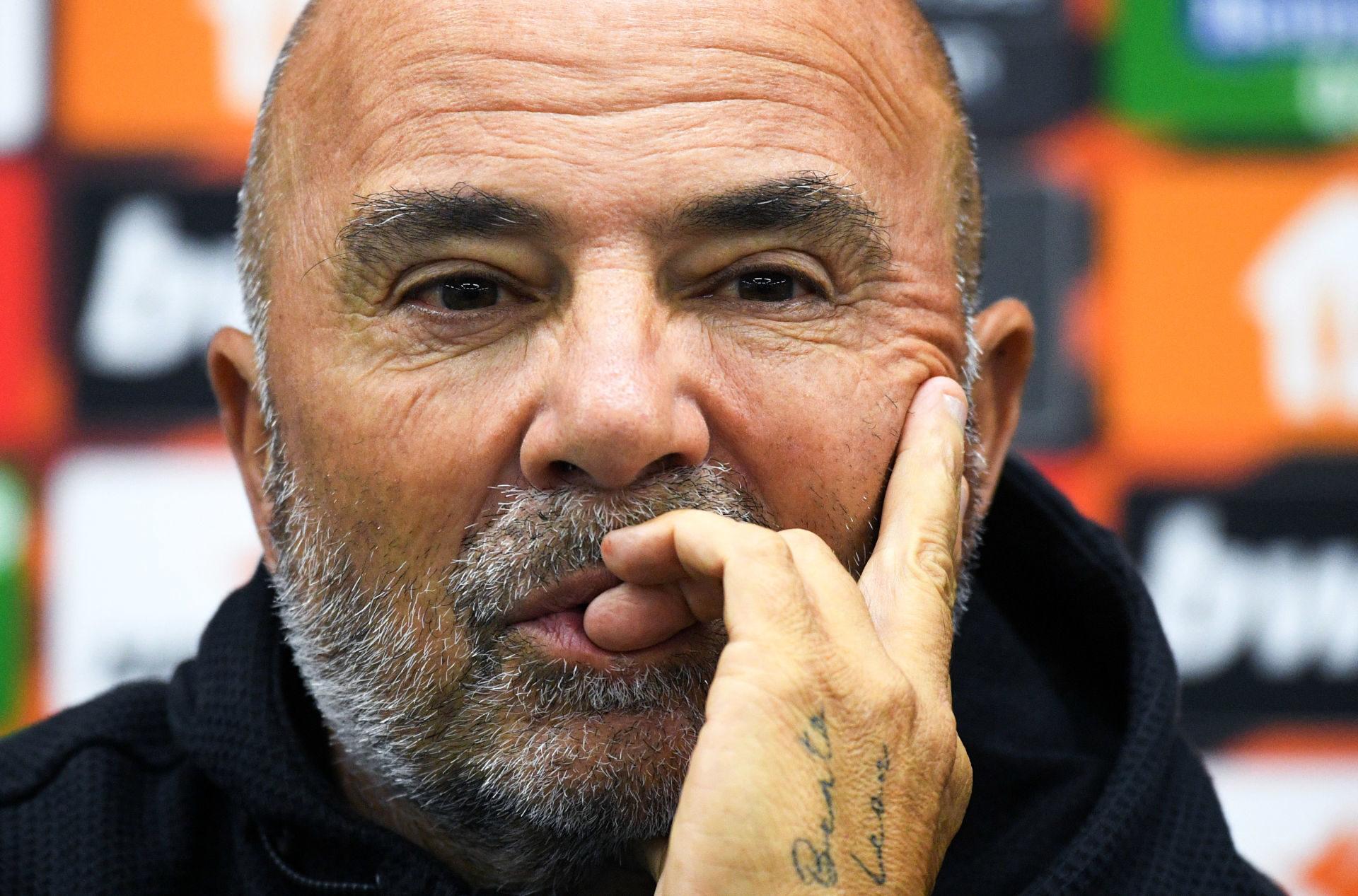 Jorge Sampaoli a conscience que le danger plane en cas de mauvais résultat face à Galatasaray, ce jeudi 30 septembre. Icon Sport