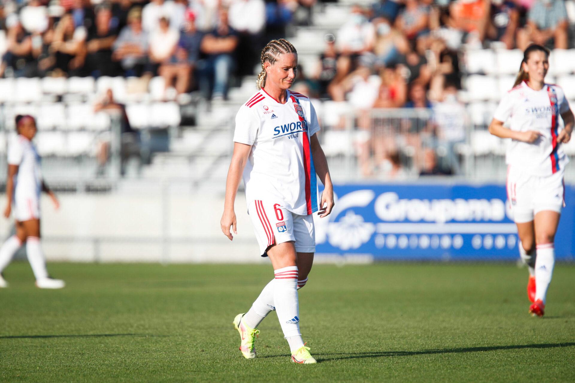 Amandine Henry, joueuse de l'Olympique Lyonnais, ne figure pas dans la liste de Corinne Diacre pour les rencontres contre la Grèce et la Slovénie. Icon Sport