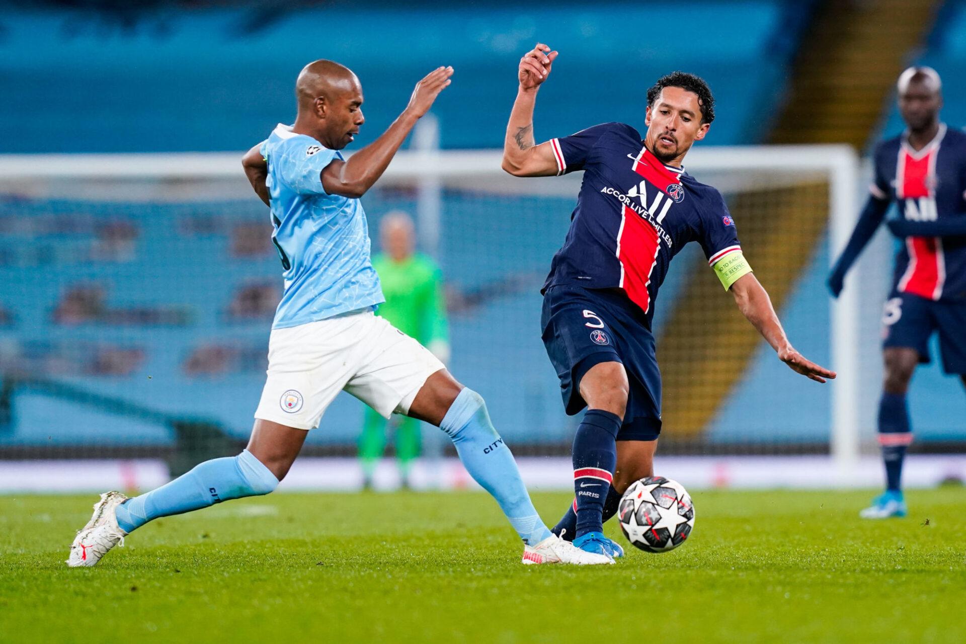 Le PSG de Manchester City voudra prendre sa revanche sur le Manchester City de Fernandinho. Icon Sport
