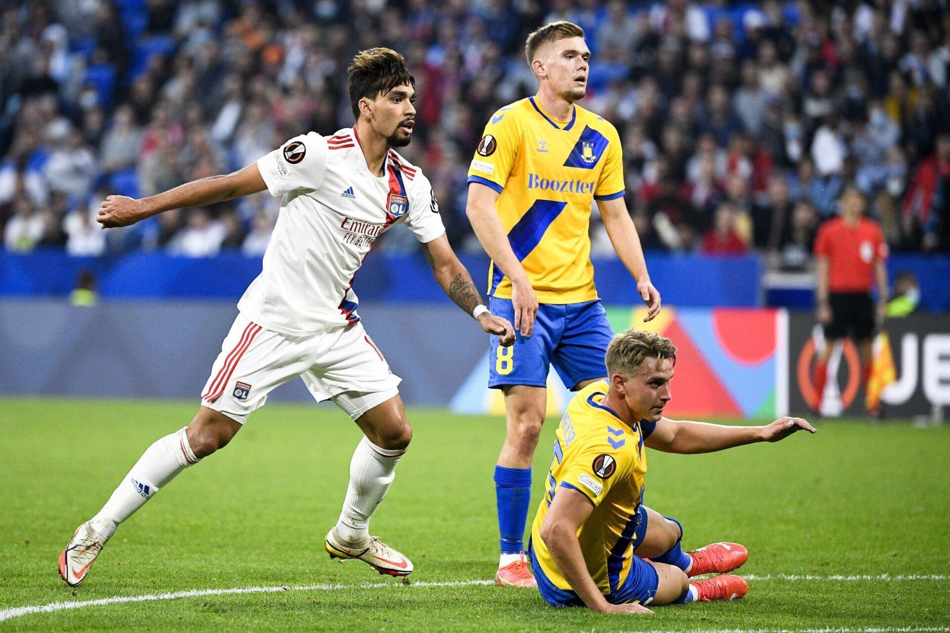 Lucas Paqueta a été intéressant en position d'avant-centre contre Brondby, mais il n'a pas réussi à marquer malgré une frappe sur le poteau (26e). Icon Sport