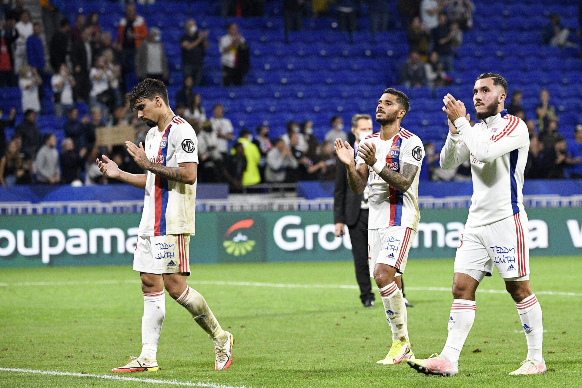 Les joueurs de l'OL étaient très déçus au coup de sifflet final de la rencontre contre Lorient. Icon Sport