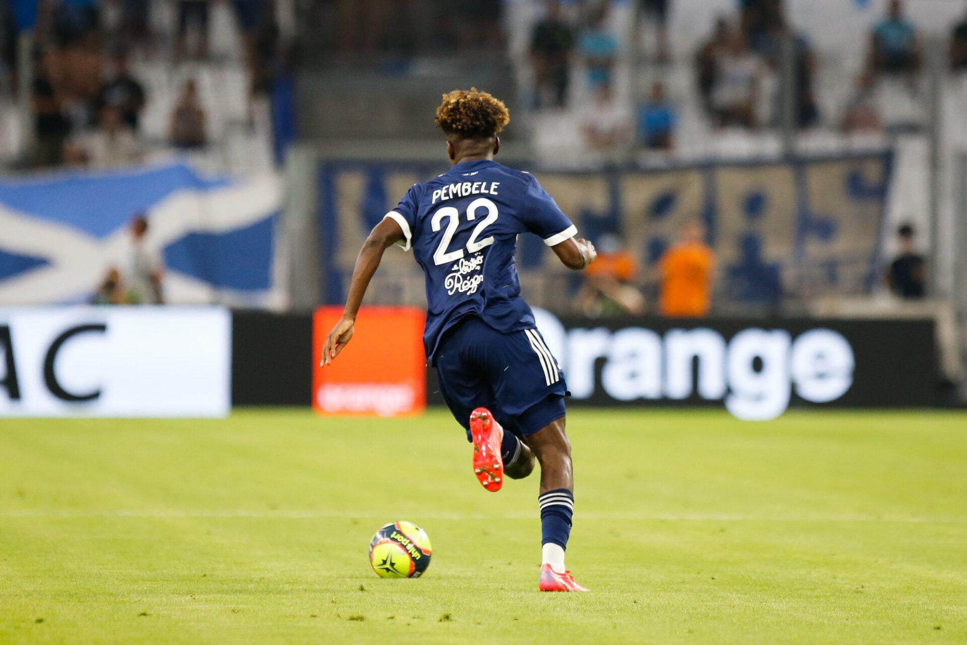 Le jeune Bordelais Timothée Pembélé avait eu tout le loisir de débouler sur le côté droit pour réduire le score contre Marseille. Icon Sport