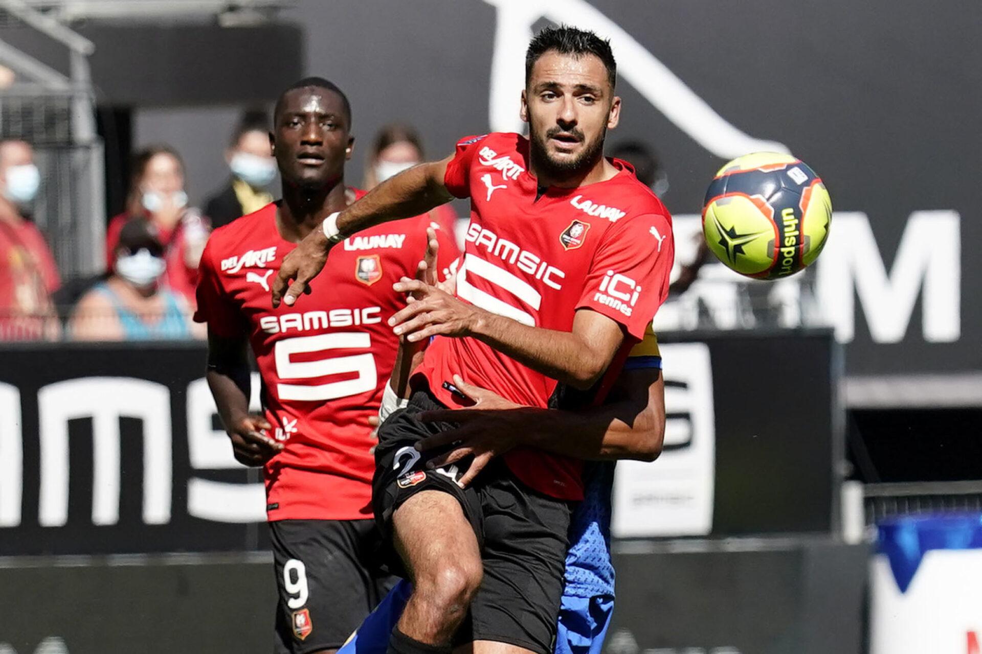 Gaëtan Laborde n'a pas pu empêcher Rennes de chuter à domicile contre Reims. Icon Sport