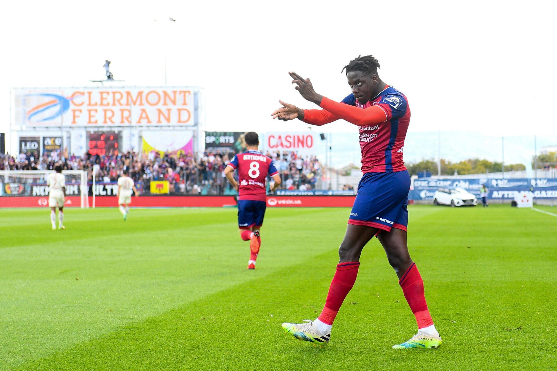 Mohamed Bayo a inscrit son quatrième but de la saison avec le Clermont Foot, contre l'AS Monaco. Icon Sport