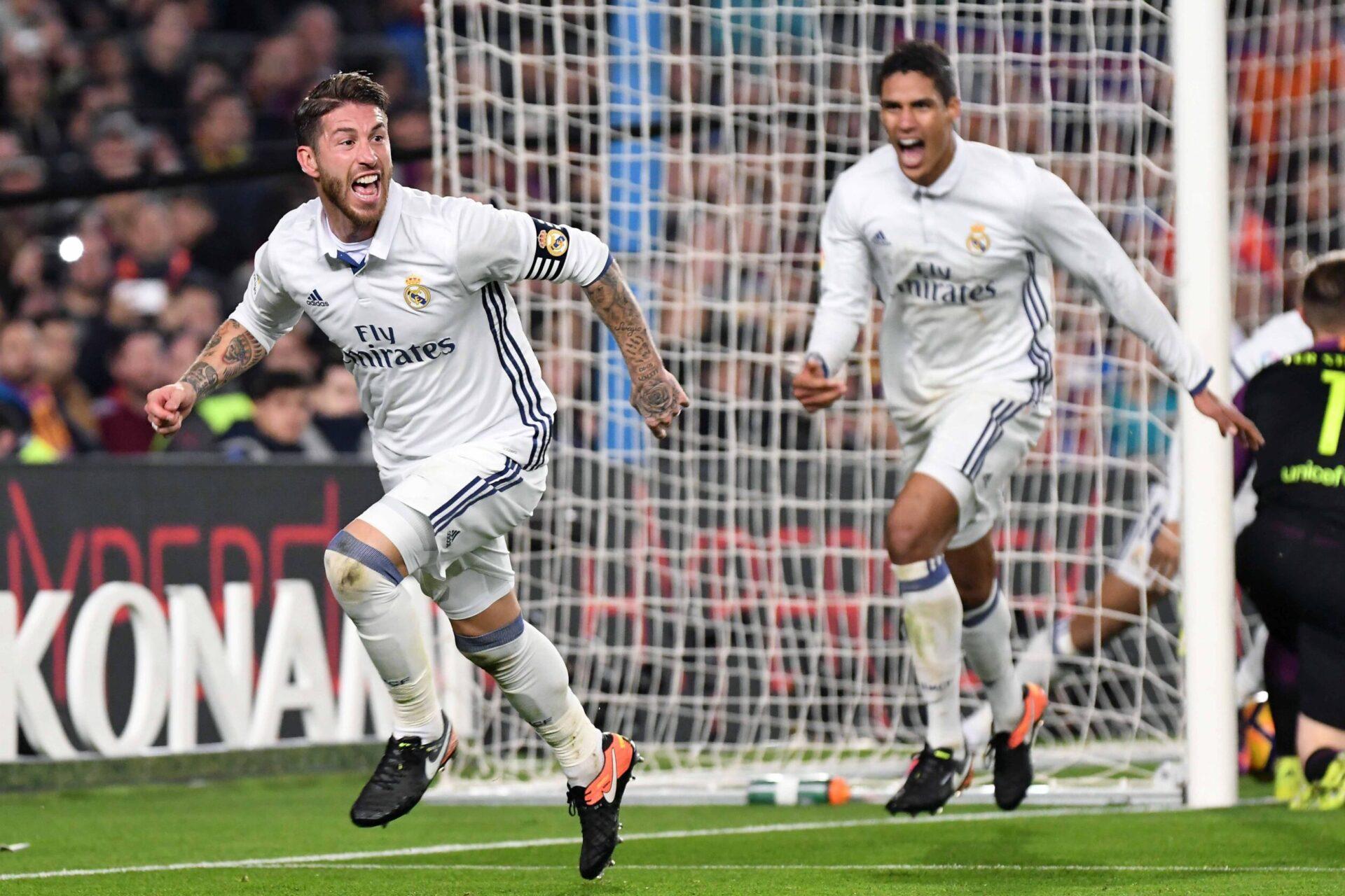 Varane a formé avec Sergio Ramos une charnière emblématique de ces dernières années aussi bien en Liga que sur la scène européenne (iconsport)