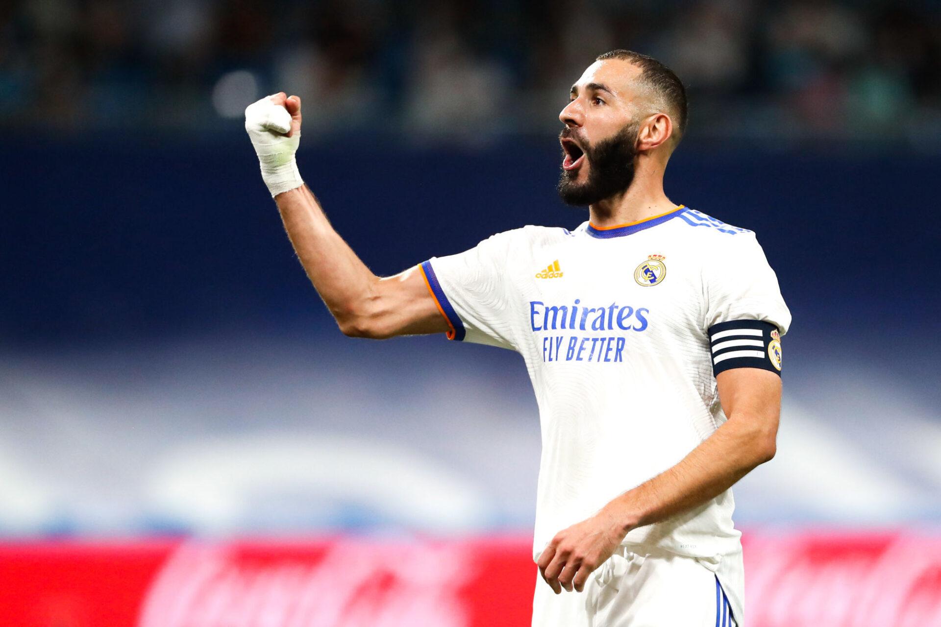 Karim Benzema a égalisé à deux reprises contre le Celta de Vigo, et a fini la rencontre avec un triplé. Icon Sport