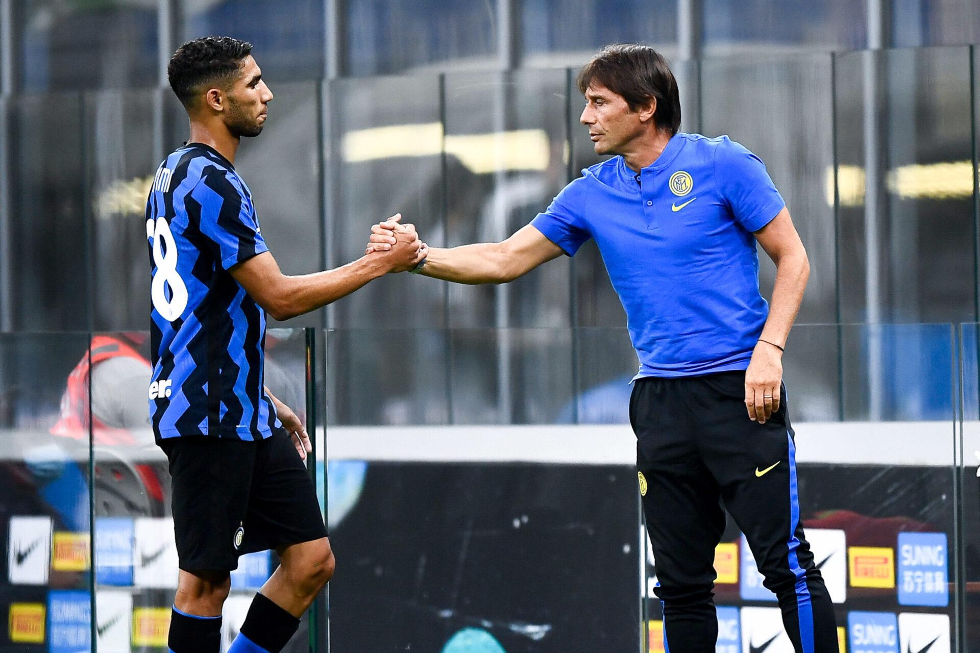 Antonio Conte a été l'entraîneur d'Achraf Hakimi à l'Inter Milan (iconsport)