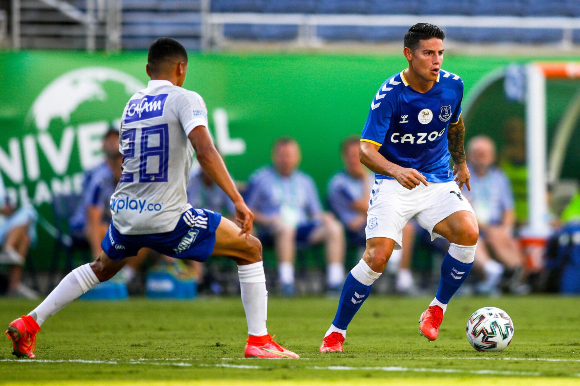 Seulement utilisé en préparation cet été, James Rodriguez n'a plus joué en match officiel avec Everton depuis le mois de mai (iconsport)