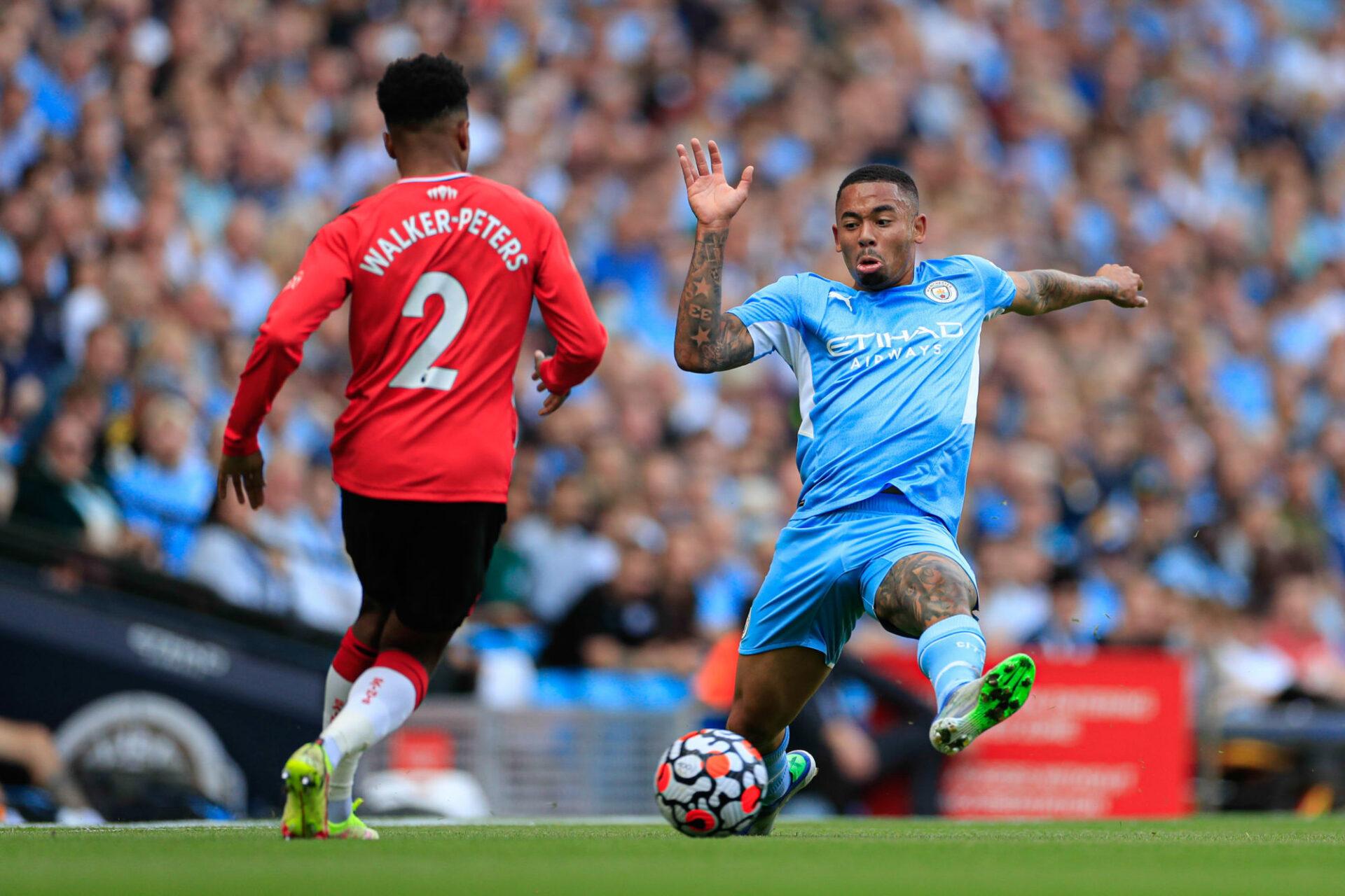 Gabriel Jesus et ses coéquipiers n'ont cadré qu'un seul tir face à Southampton, chose rare en Premier League (iconsport)