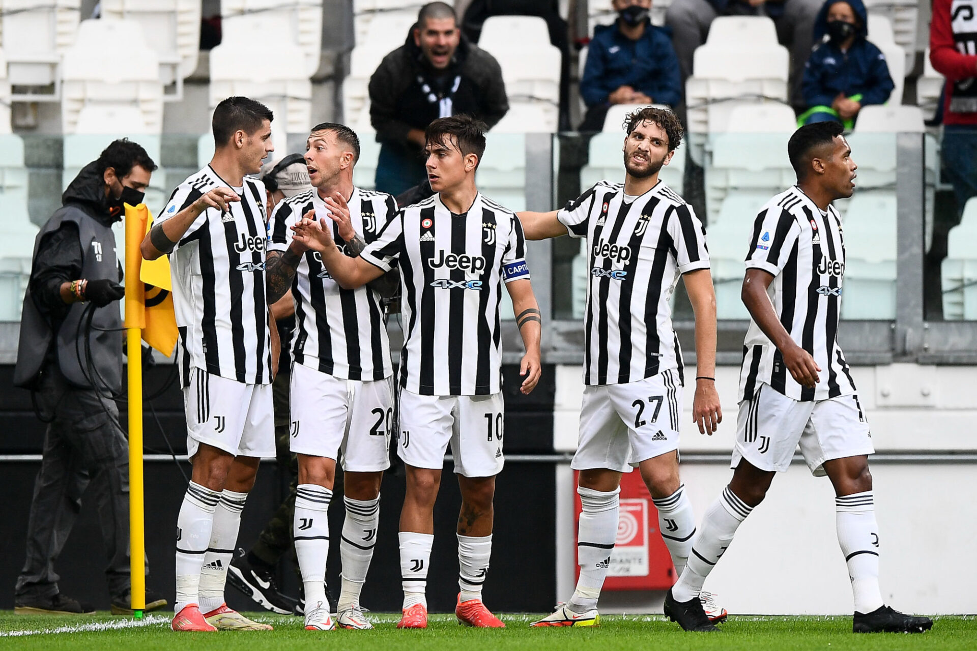 La Juventus de Paulo Dybala (au centre) doit apprendre à vivre sans Cristiano Ronaldo. Icon Sport