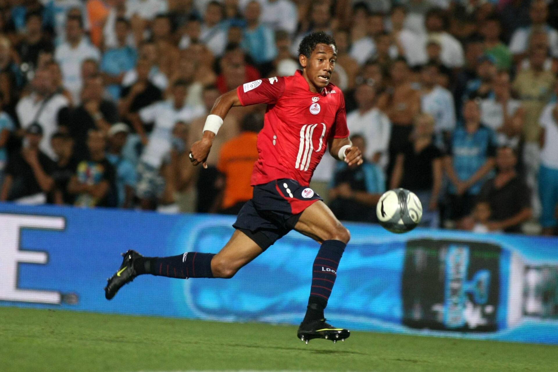 Pierre-Emerick Aubameyang commençant sa carrière professionnelle de footballeur avec les Lillois (Icon Sport)