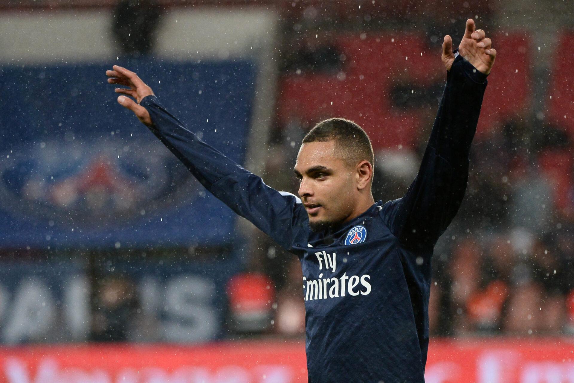 Layvin Kurzawa portant le maillot du Paris Saint-Germain (Icon Sport)