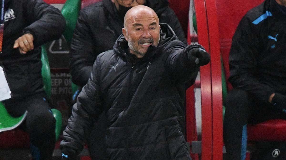 Tout en soulignant la qualité du match de l'OM, Jorge Sampaoli déplorait le nul concédé par ses joueurs face au Lokomotiv Moscou (iconsport)