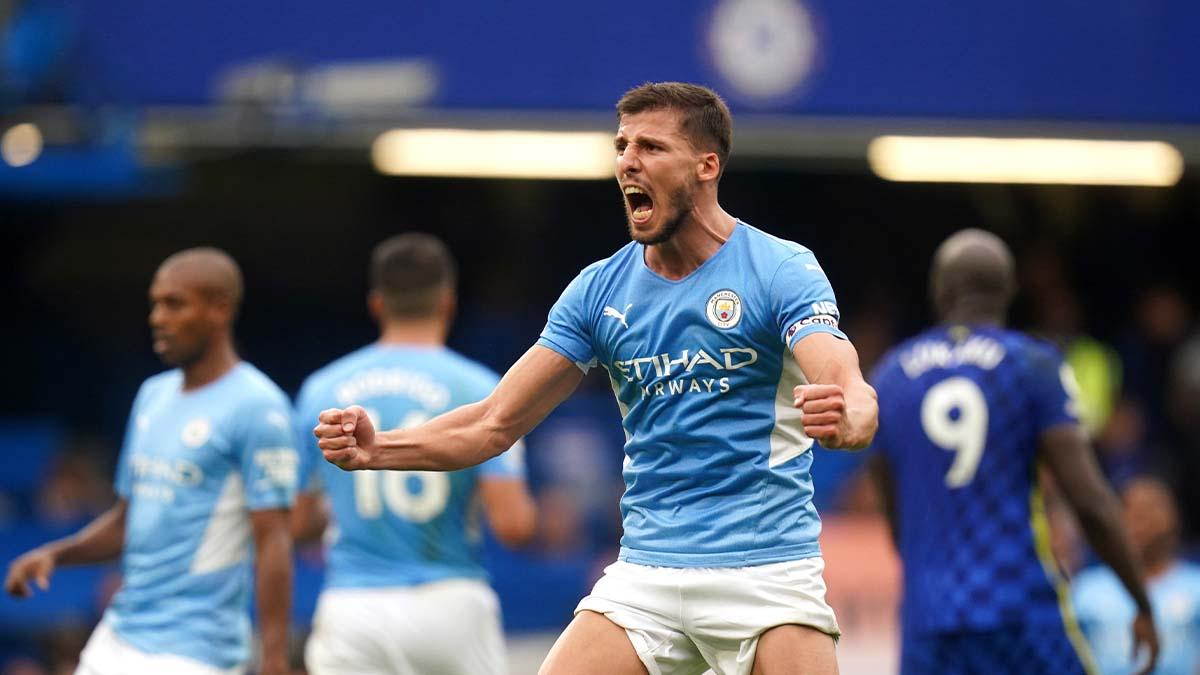 À Chelsea ce week-end, Manchester City et Ruben Dias ont réussi une performance de très haut niveau, ne concédant aucun tir cadré au champion d'Europe en titre (iconsport)