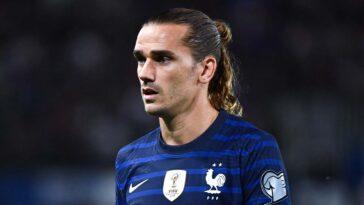 Antoine Griezmann sous le maillot de l'équipe de France (IconSport)