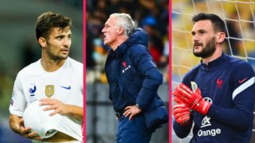 Léo Dubois, Didier Deschamps et Hugo Lloris ont réagi après le match nul de l'équipe de France en Ukraine (1-1). Icon Sport