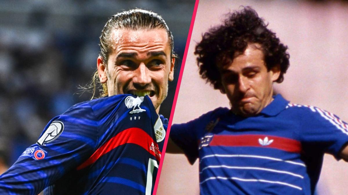 Antoine Griezmann a égalé Michel Platini avec ses 41 buts en équipe de France. @ Icon Sport