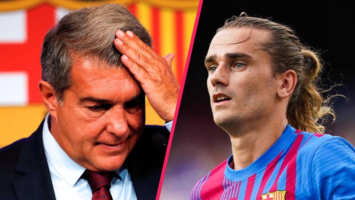 Joan Laporta ne semble pas vraiment regretter le départ d'Antoine Griezmann du FC Barcelone. Icon Sport