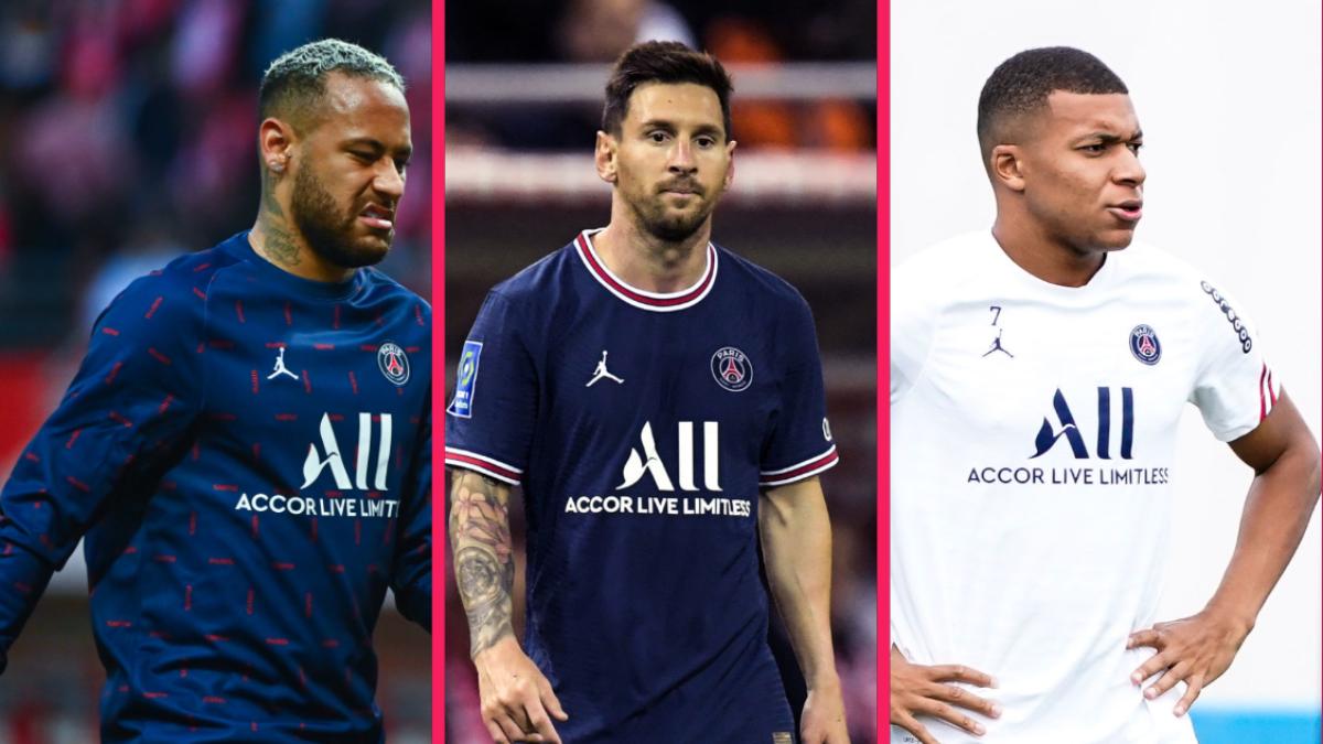 Neymar et Lionel Messi ne seront pas disponibles pour le déplacement du PSG à Clermont, ce samedi 11 septembre en Ligue 1, tandis que Kylian Mbappé est incertain. Icon Sport