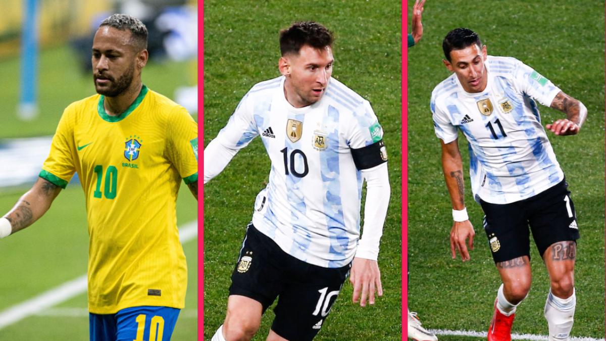 Neymar, Lionel Messi et Ángel Di María étaient sur le pont avec leur sélection, dans la nuit du jeudi 9 septembre. Icon Sport