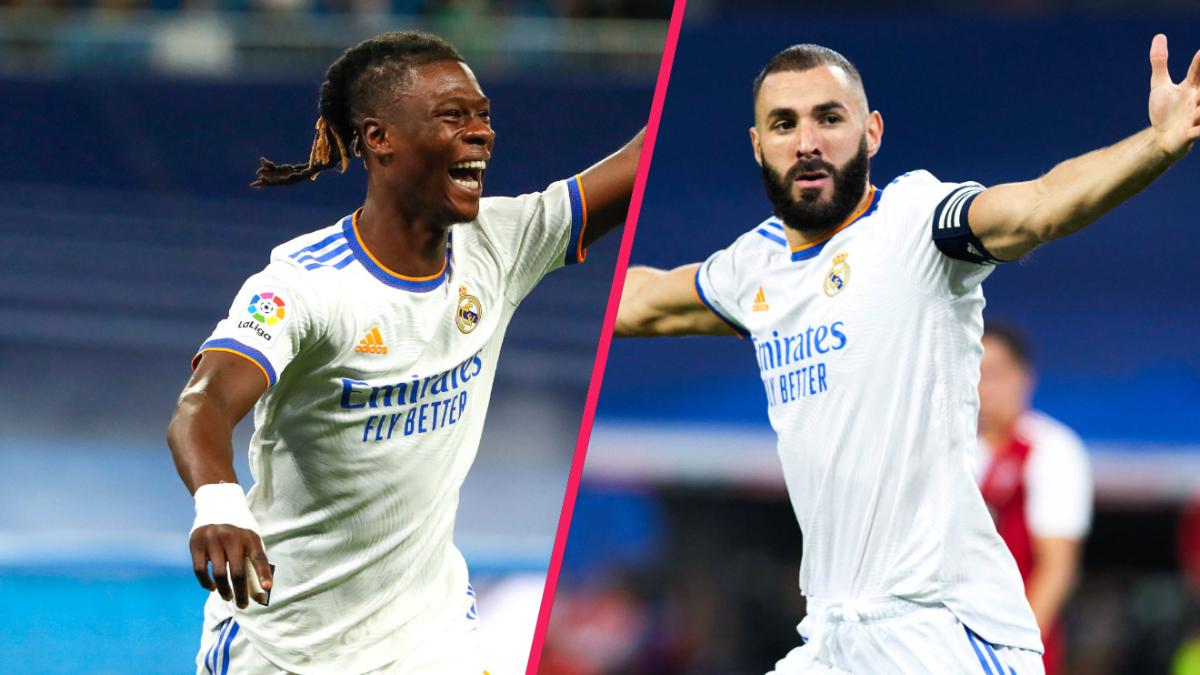 Eduardo Camavinga et Karim Benzema ont marqué pour le Real Madrid contre le Celta de Vigo (5-2). Icon Sport