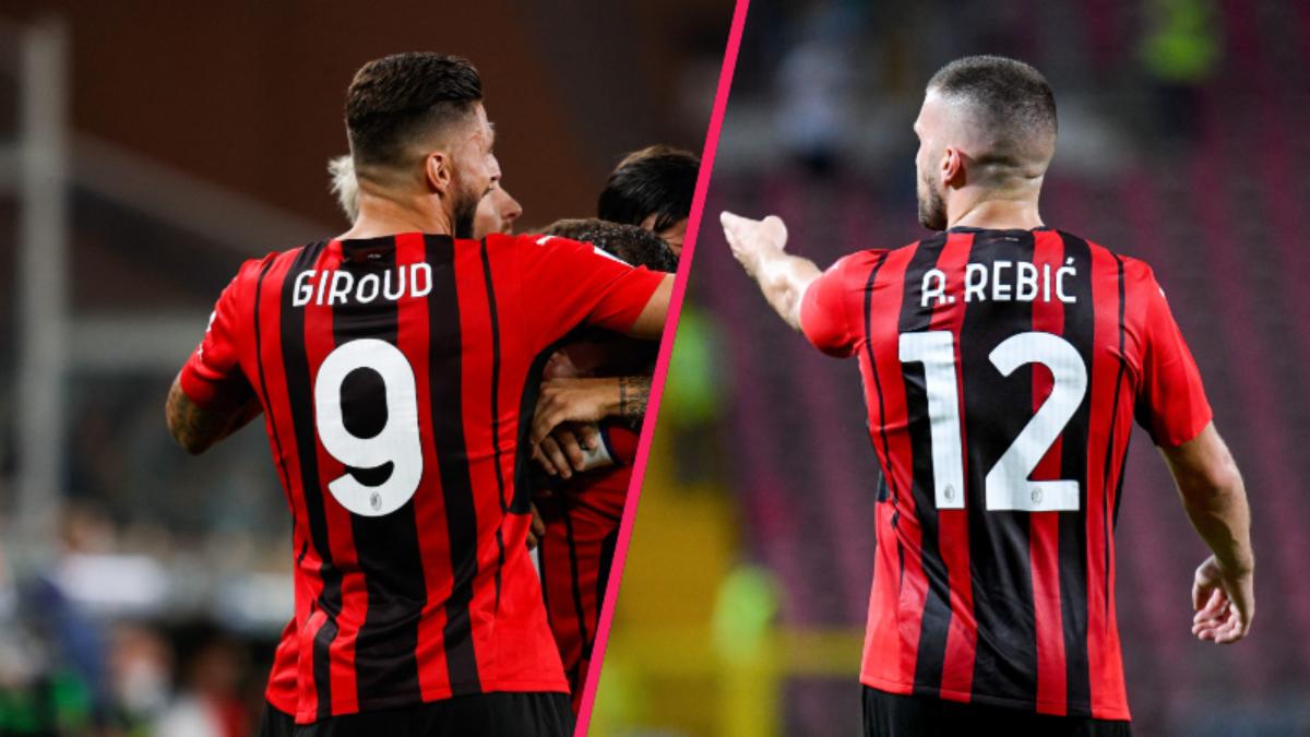 Pioli doit encore décider s'il titularise Giroud ou Rebić à la place de Zlatan face aux Reds (iconsport)