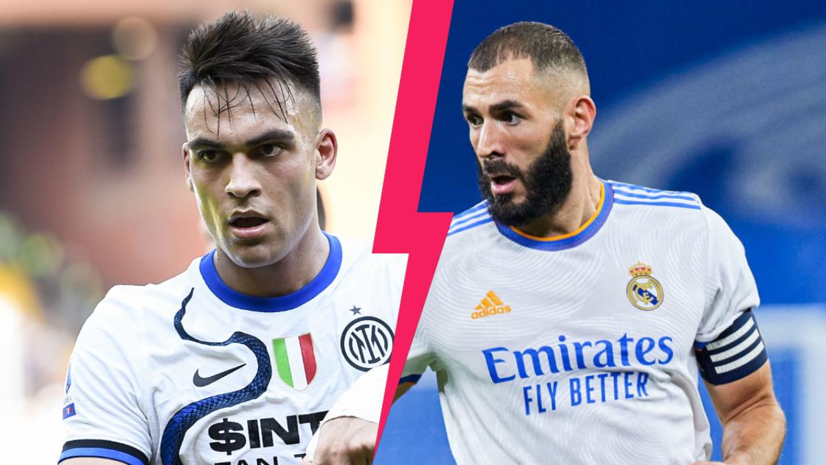 Lautaro Martinez et l'Inter reçoivent le Real Madrid de Karim Benzema en Ligue des champions. Icon Sport