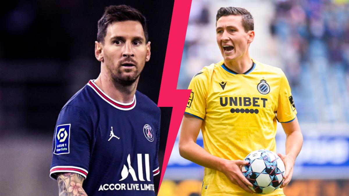 Lionel Messi est bien titulaire avec Kylian Mbappé et Neymar avec le PSG pour affronter le Club Bruges de Hans Vanaken. Icon Sport
