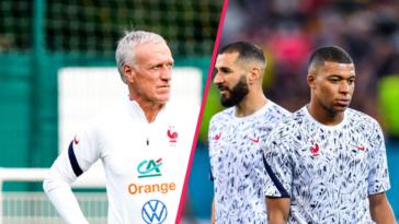 Didier Deschamps veut laisser du temps au trio Griezmann, Mbappé et Benzema. Icon Sport