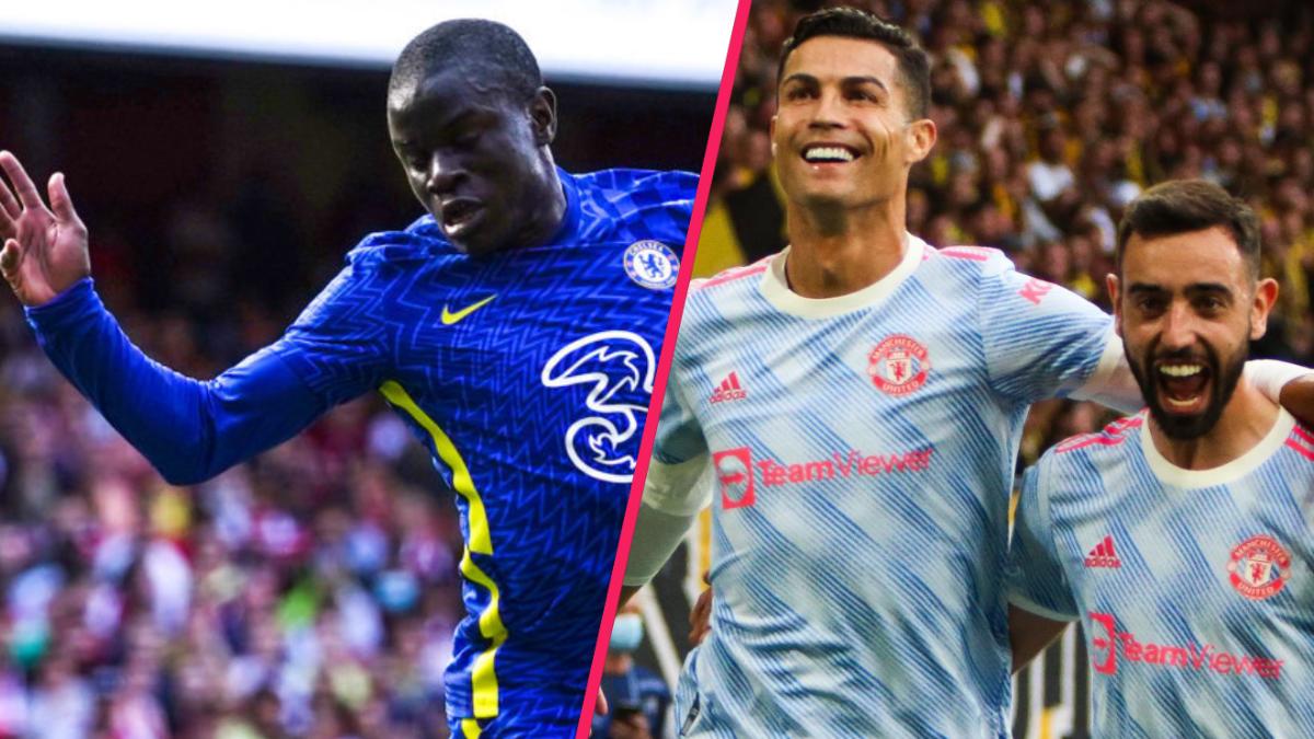 N'Golo Kanté et Cristiano Ronaldo ont respectivement mené Chelsea et Manchester United vers la victoire. Icon Sport
