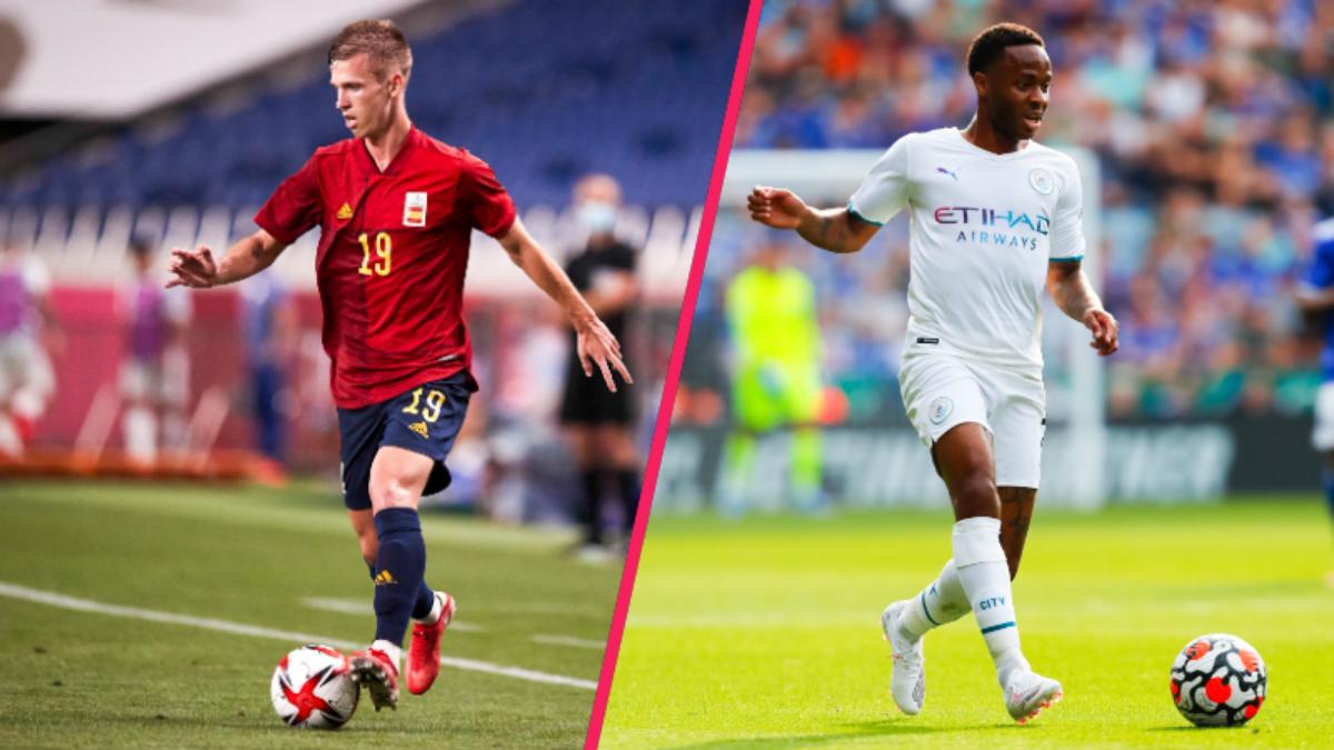 Le Barça serait séduit par les profils de Dani Olmo et Raheem Sterling (iconsport)
