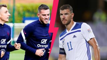 Le bizuth Jordan Veretout va vivre sa première titularisation avec la France contre la Bosnie-Herzégovine d'Edin Dzeko, ce mercredi 1er septembre. Icon Sport