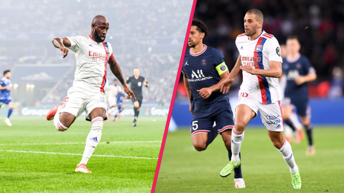 Moussa Dembélé blessé, c'est Islam Slimani qui portera l'attaque lyonnaise lors des prochaines semaines. Icon Sport
