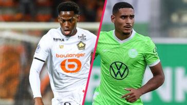 Jonathan David et Maxence Lacroix débutent la rencontre de Ligue des champions entre Lille et Wolfsburg (iconsport)