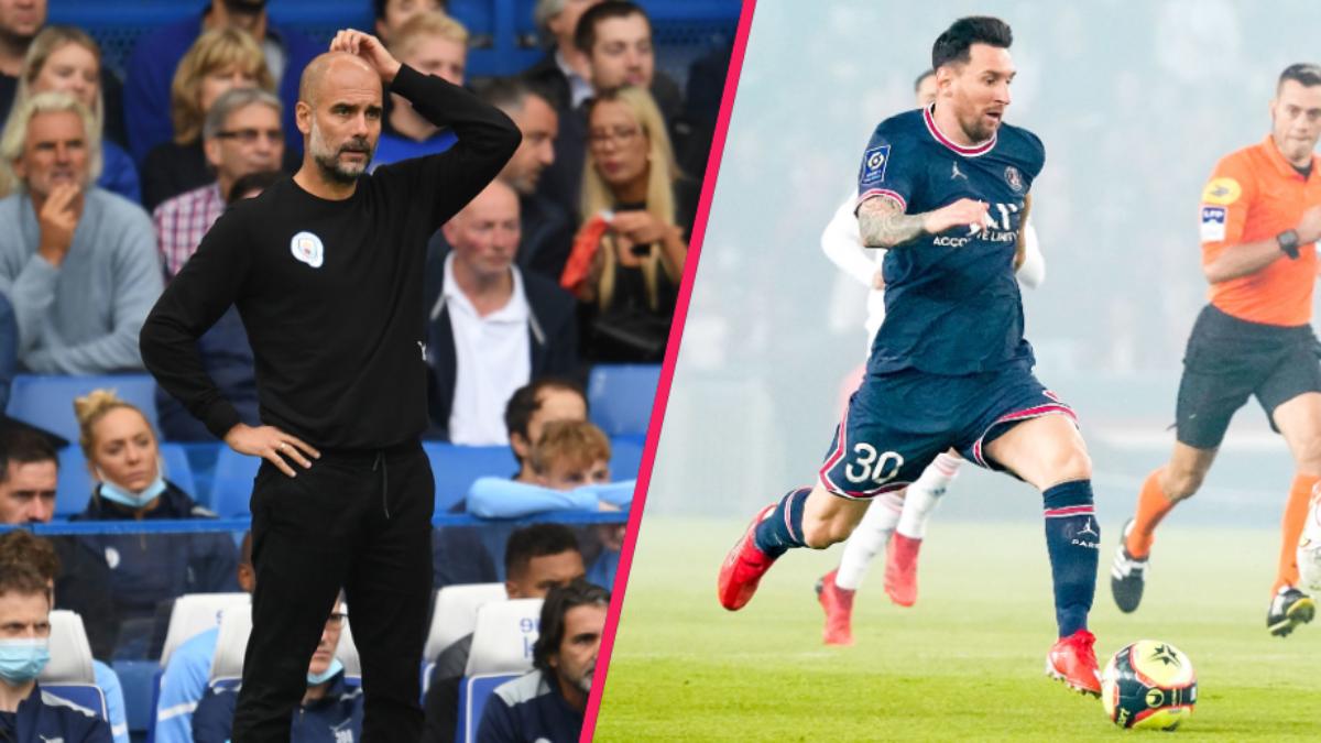 """Pep Guardiola """"espère"""" que Lionel Messi jouera contre Manchester City. Icon Sport"""