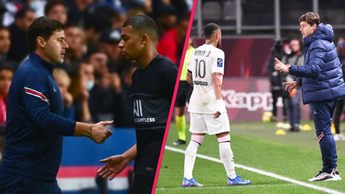 Mauricio Pochettino affirme s'être entretenu avec Kylian Mbappé et Neymar concernant le supposé froid entre les deux joueurs. Icon Sport