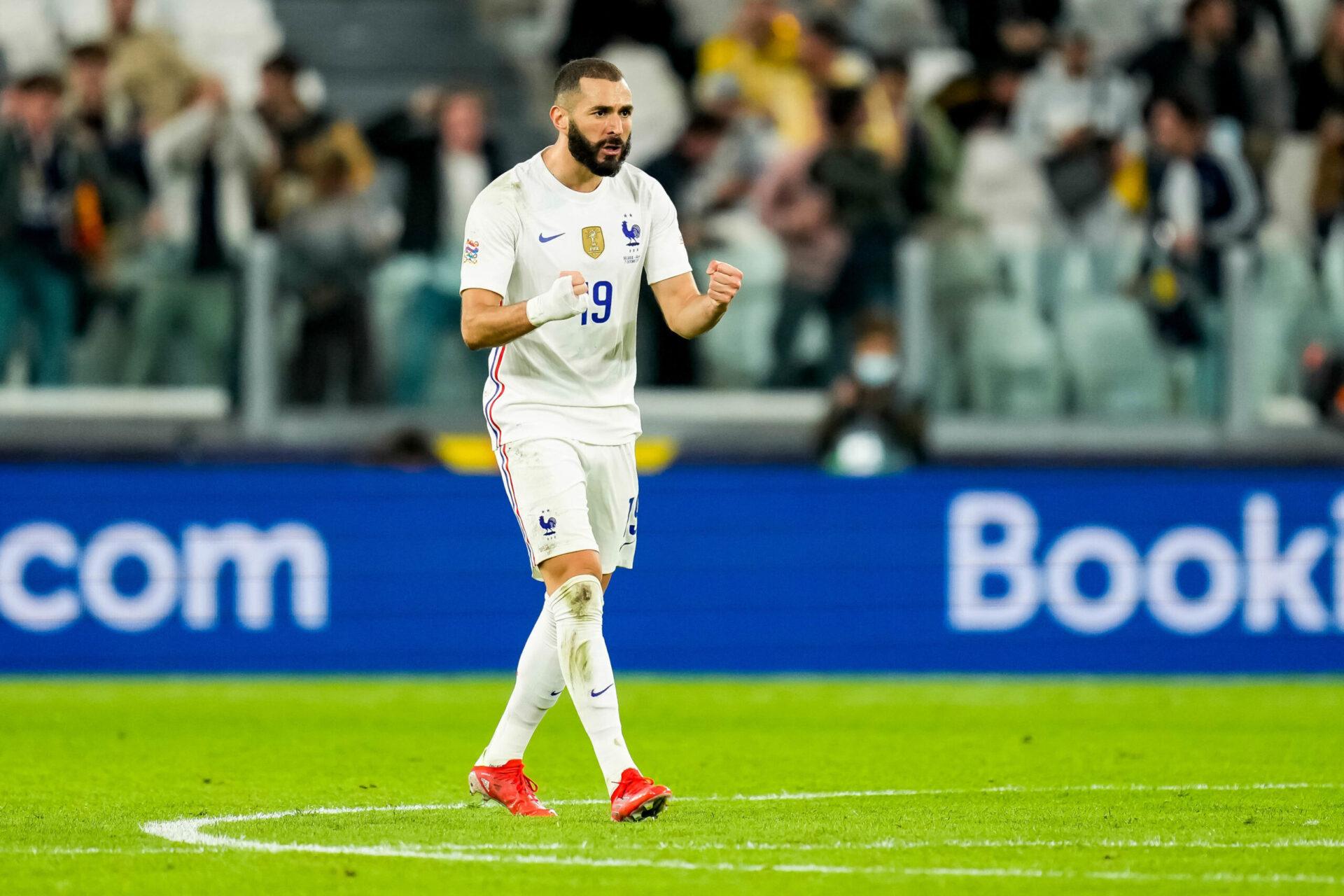 Buteur contre la Belgique, Karim Benzema avait relancé l'équipe de France, pourtant mal en point contre les Belges. Icon Sport