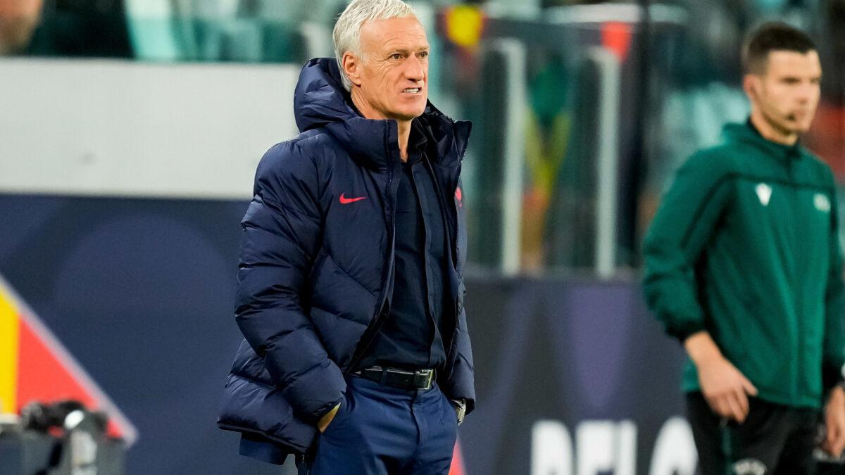 Didier Deschamps heureux après la victoire face à la Belgique (iconsport)