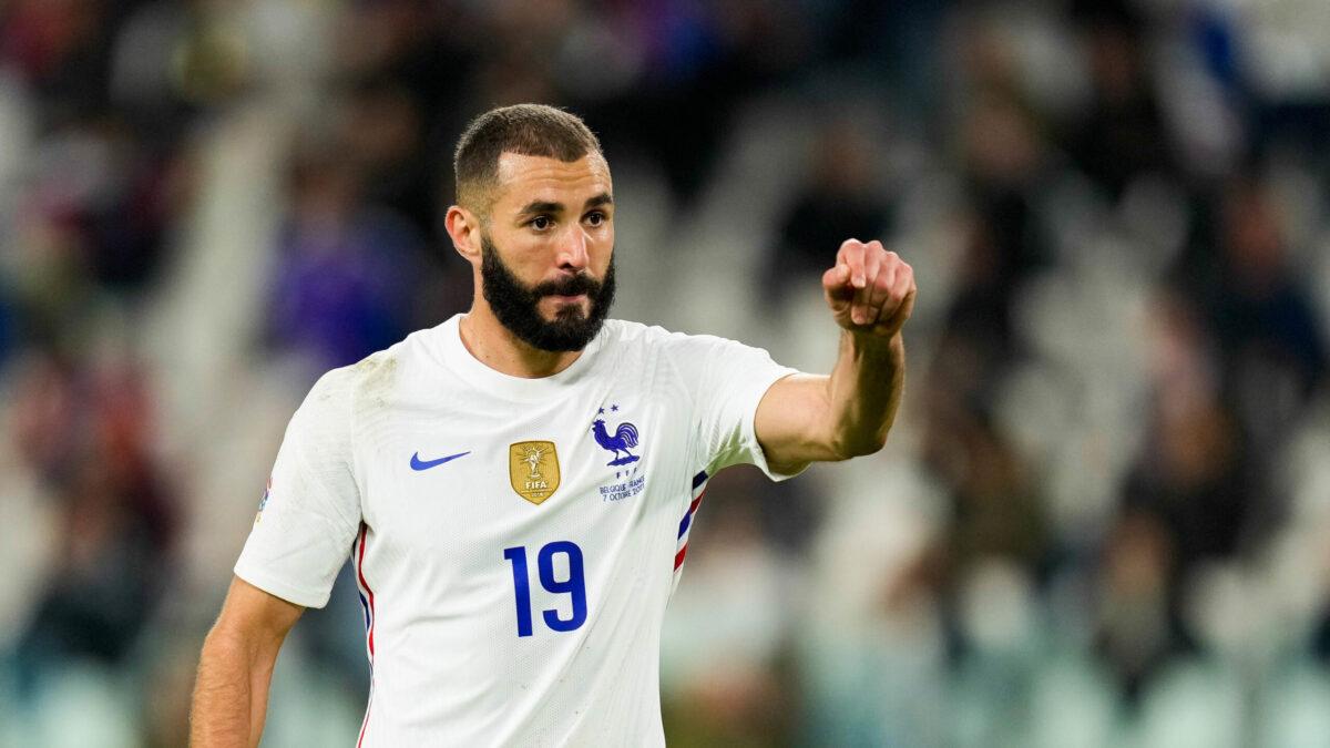 Karim Benzema a passé en revue l'actualité de l'équipe de France avant le match contre l'Espagne en finale de la Ligue des nations. Icon Sport
