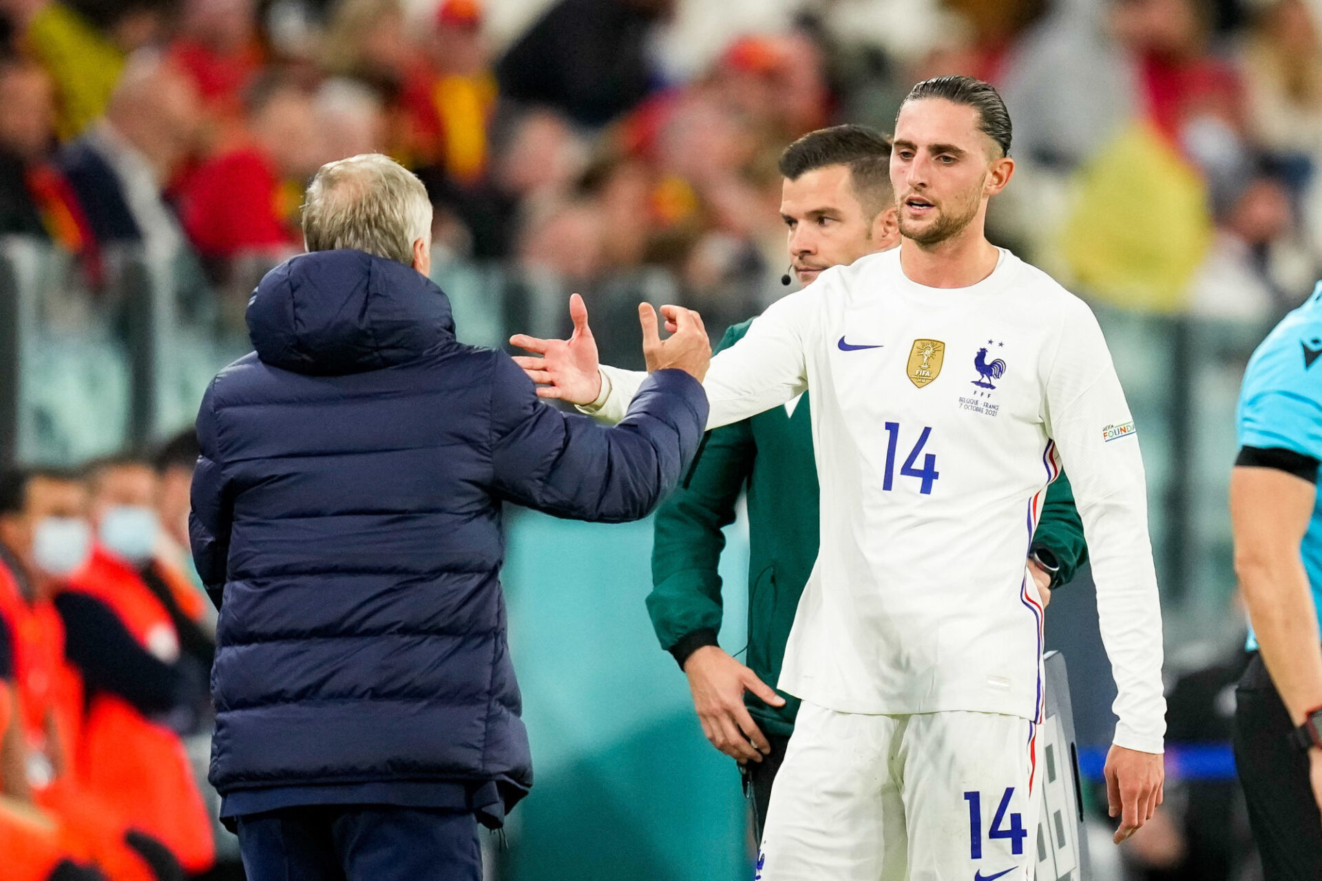 Didier Deschamps ne pourra pas compter sur Adrien Rabiot en finale contre l'Espagne. Icon Sport