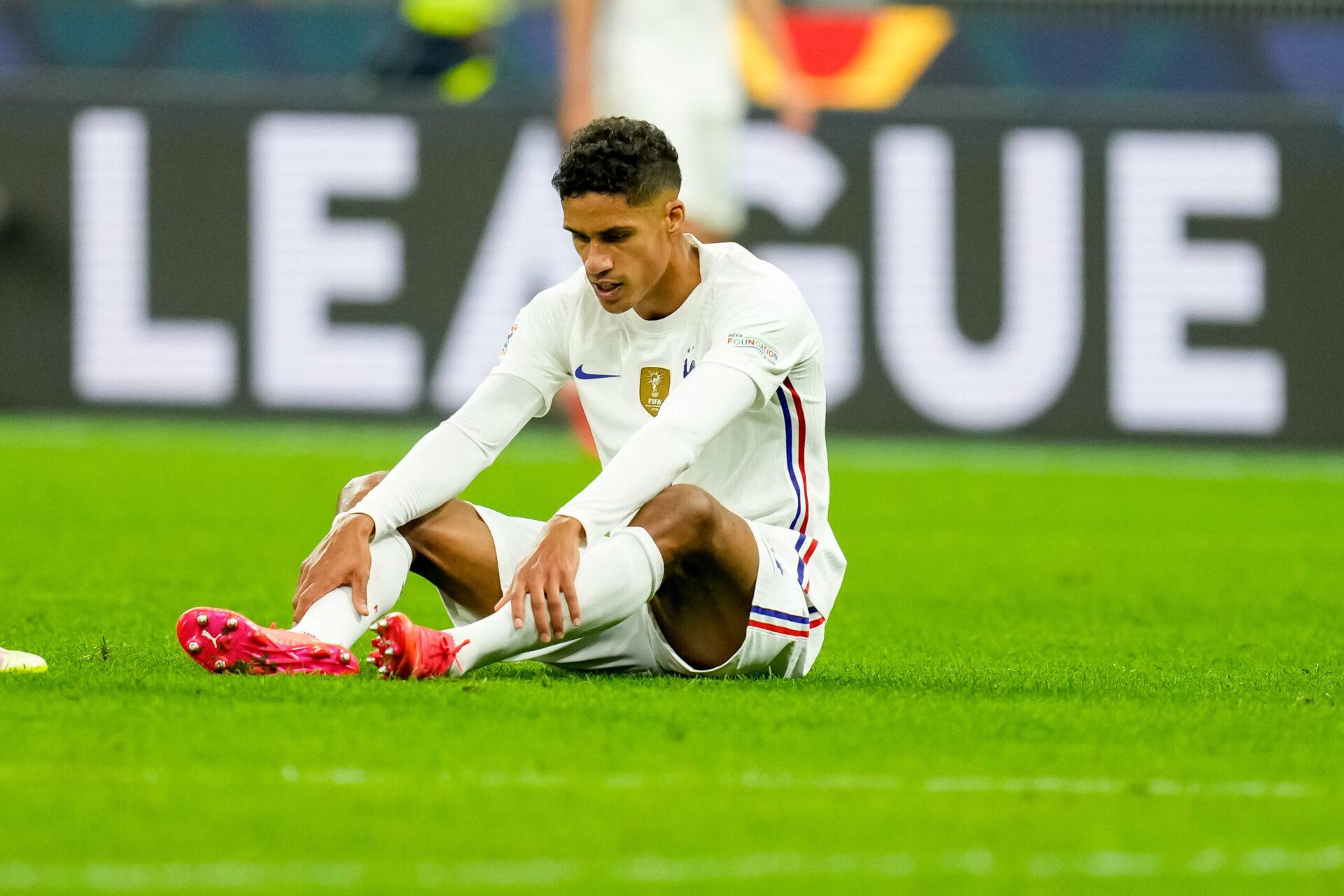 Varane est sorti peu avant la mi-temps face à l'Espagne (iconsport)
