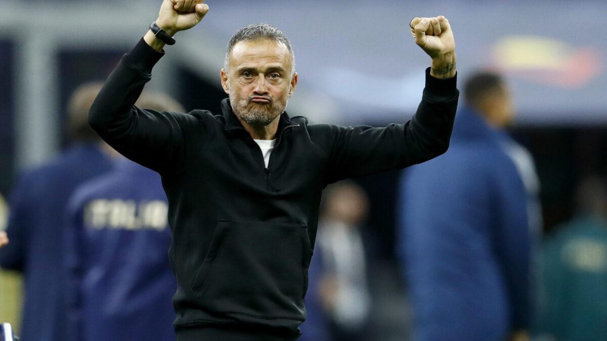 Luis Enrique heureux après la victoire face à l'Italie (iconsport)