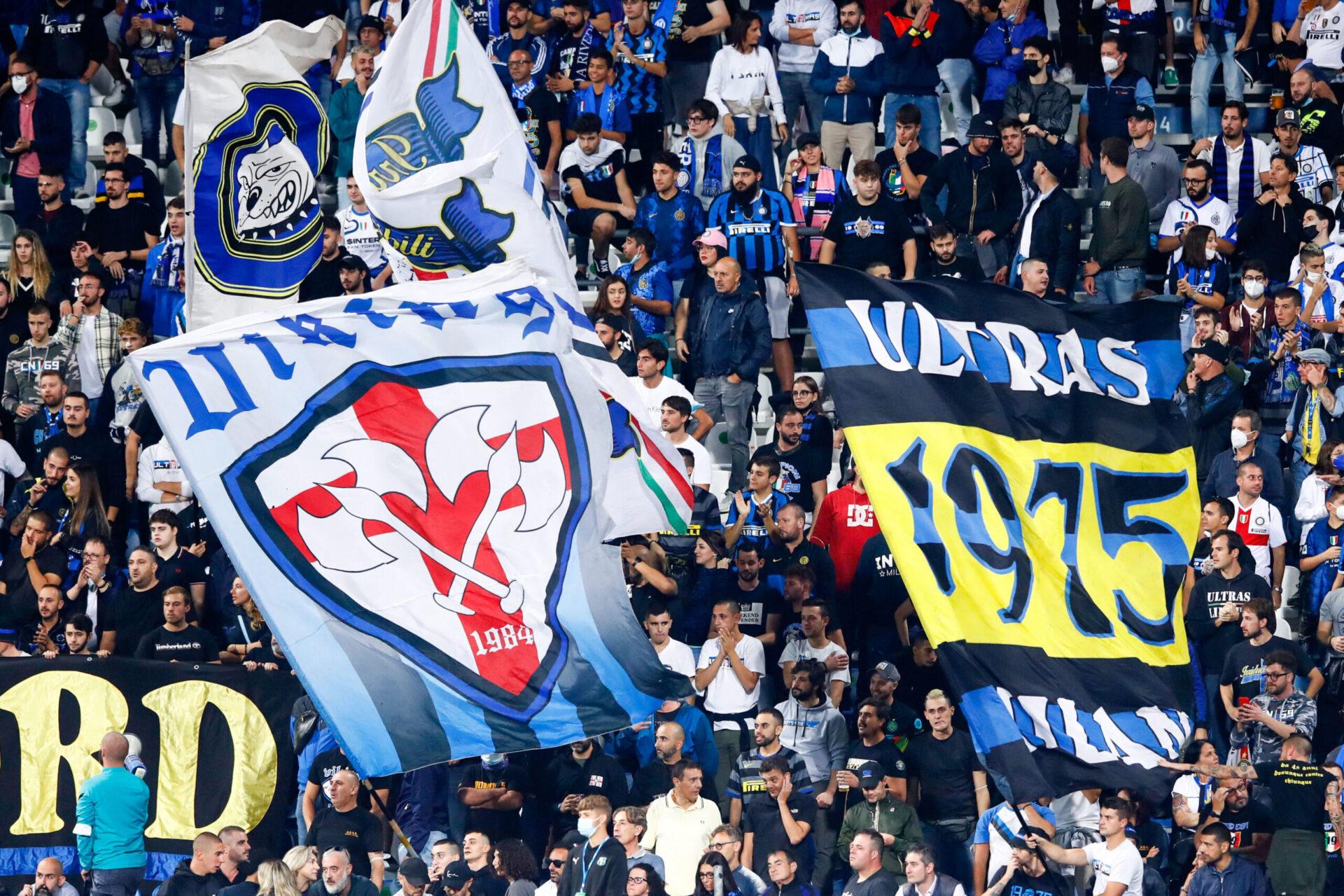 Les fans de l'Inter, lors de la rencontre de Serie A face à Sassuolo. Icon Sport