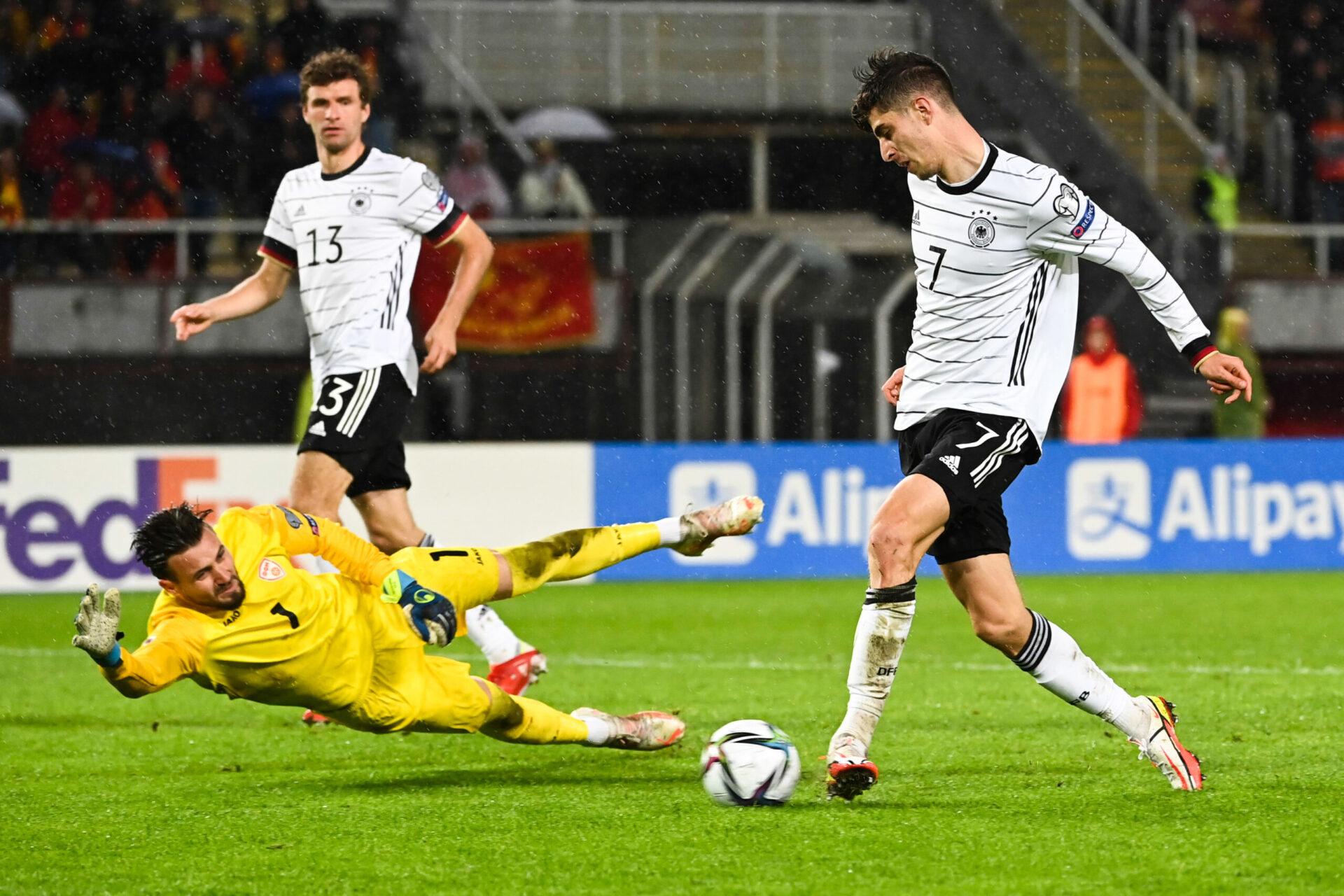 En Macédoine du Nord, Kai Havertz a ouvert le score pour l'Allemagne (iconsport)