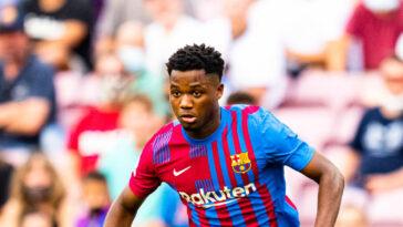 Ansu Fati, l'attaquant du Barça. Icon Sport