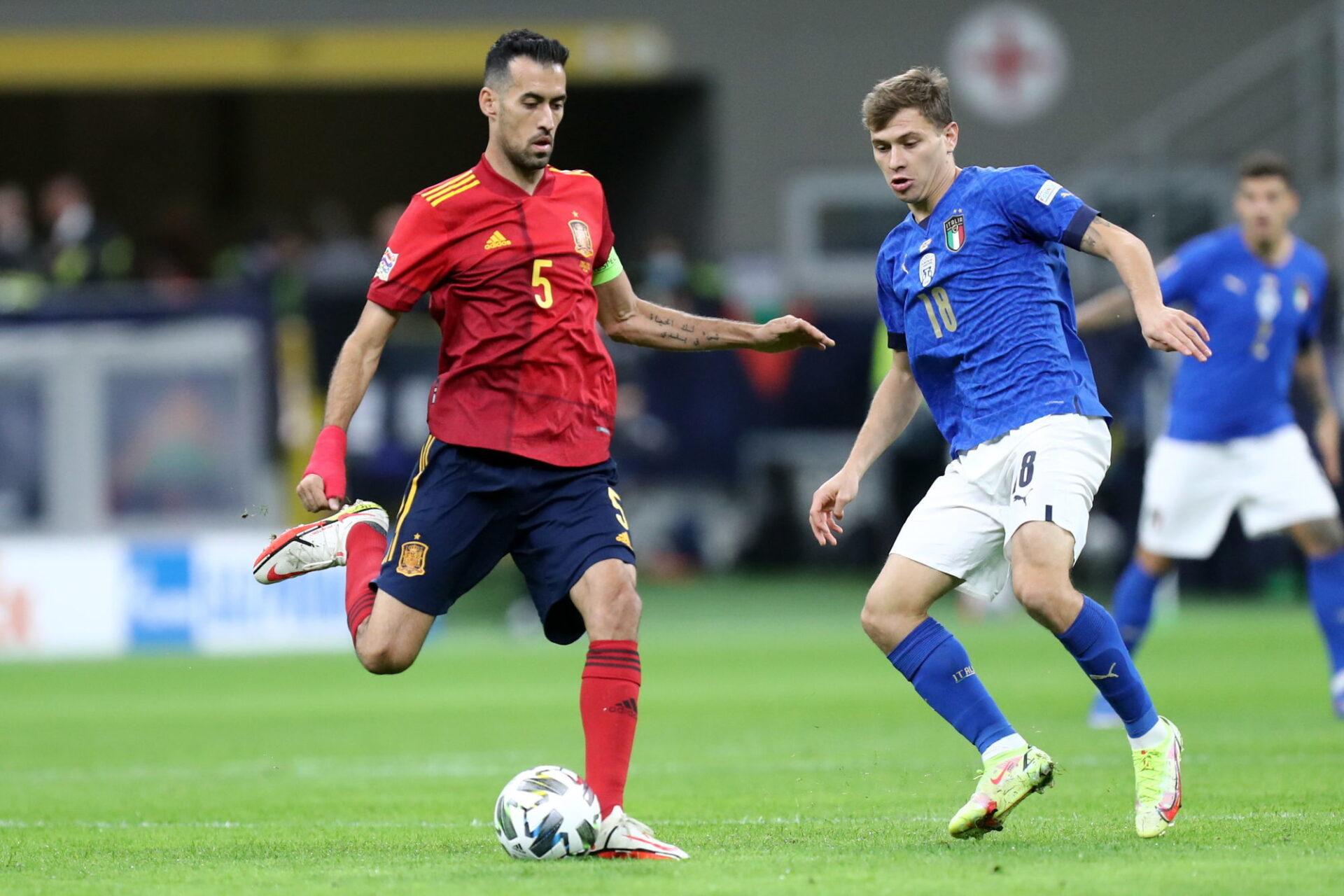Avec Sergio Busquets en maître à jouer, l'Espagne est l'une des équipes qui maîtrisent le mieux la possession. Icon Sport